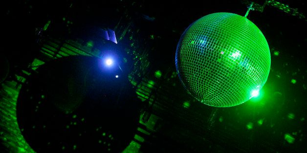 NEW YORK, NY - DECEMBER 19:  A general view of a disco ball as Deer Tick performs at Brooklyn Bowl on December 19, 2012 in Ne