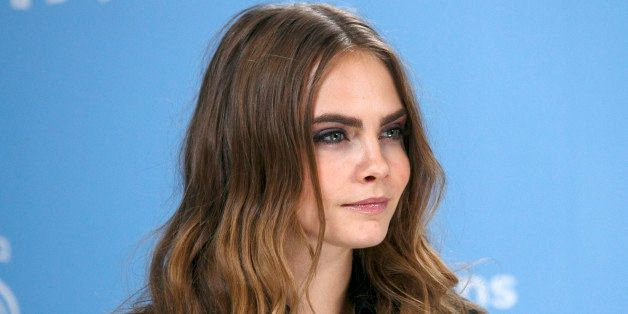 LONDON, ENGLAND - JUNE 18:  Cara Delevingne attends the 'Paper Towns' Photocall at Claridges Hotel on June 18, 2015 in London