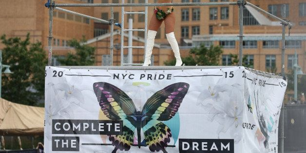 NEW YORK, NY - JUNE 28:  A general view of atmosphere during the 29th annual NYC Pride: Dance On The Pier at Pier 26 on June