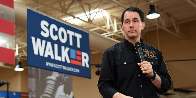 LAS VEGAS, NV - JULY 14:  Wisconsin Gov. Scott Walker speaks at Red Rock Harley-Davidson on July 14, 2015 in Las Vegas, Nevad