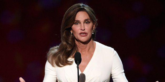 Caitlyn Jenner accepts the Arthur Ashe award for courage at the ESPY Awards at the Microsoft Theater on Wednesday, July 15, 2