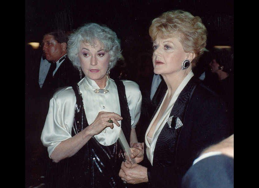 Bea and her bosom buddy Angela Lansbury, who lent Bea her coat to brave the NYC winter for her benefit performance