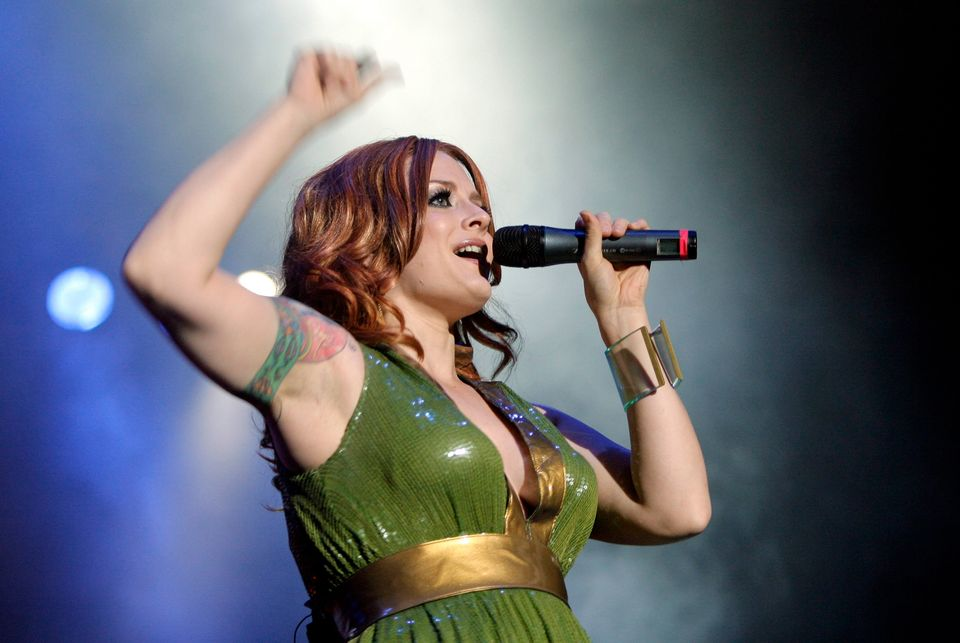 Ana Matronic of U.S. pop band Scissor Sisters performs on stage at the Gurten music open air festival in Bern, Switzerland, F