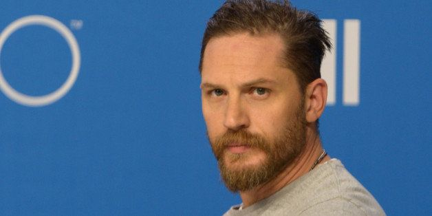 TORONTO, ON - SEPTEMBER 13:  Actor Tom Hardy speaks during the 'Legend' press conference  at TIFF Bell Lightbox on September