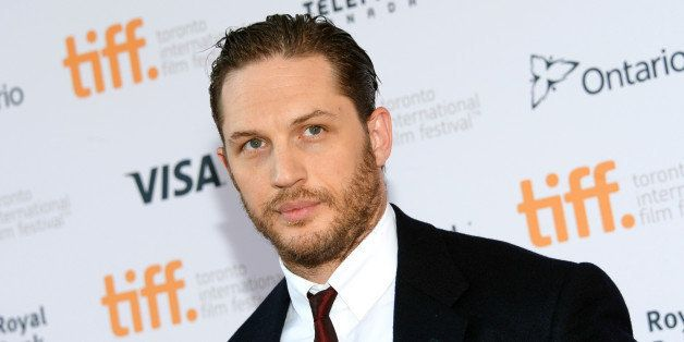 "Tom Hardy arrives at the premiere of ""The Drop"" on day 2 of the Toronto International Film Festival at the Princess of Wales"