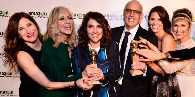 WEST HOLLYWOOD, CA - JANUARY 11:  (L-R) Actress Kathryn Hahn, actress Judith Light, show creator/director Jill Soloway, actor