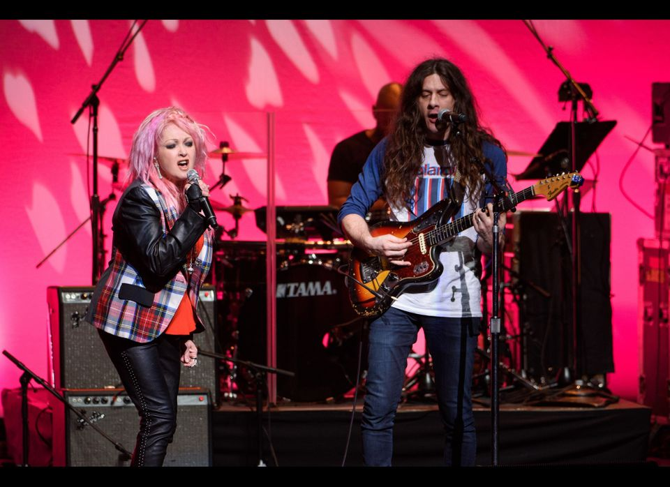 Cyndi Lauper and Kurt Vile perform a duet at the  Beacon Theater.