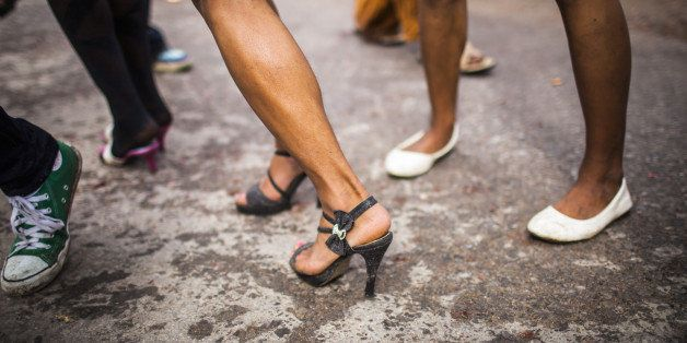 Transgender ladyboy's in high heels