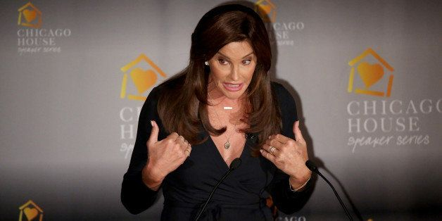 Caitlyn Jenner speaks to the Chicago House luncheon at the Hilton Chicago on Thursday, Nov. 12, 2015. (Nancy Stone/Chicago Tr