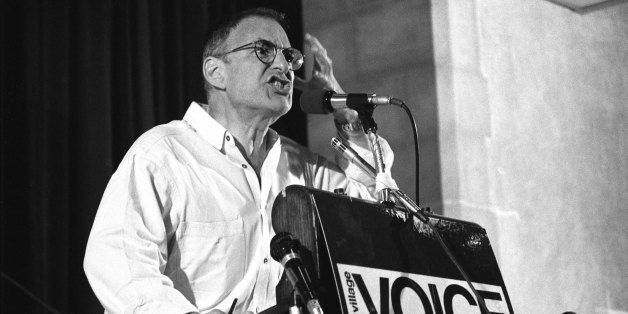 NEW YORK - JUNE 6: Larry Kramer at Village Voice AIDS conference on June 6, 1987 in New York City, New York. (Photo by Cather