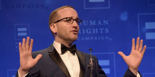 LOS ANGELES, CA - MARCH 14:  Human Rights Campaign President Chad Griffin speaks onstage during the Human Rights Campaign Los