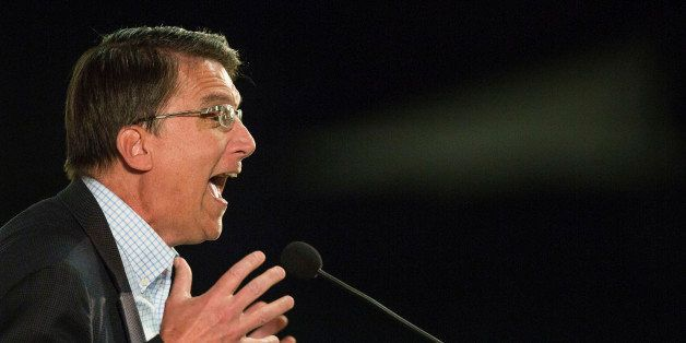 UNITED STATES - MARCH 8 - North Carolina Gov. Pat McCrory speaks at the Wake County Republican Party 2016 County Convention a