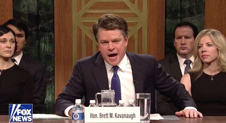 Matt Damon as Brett Kavanaugh