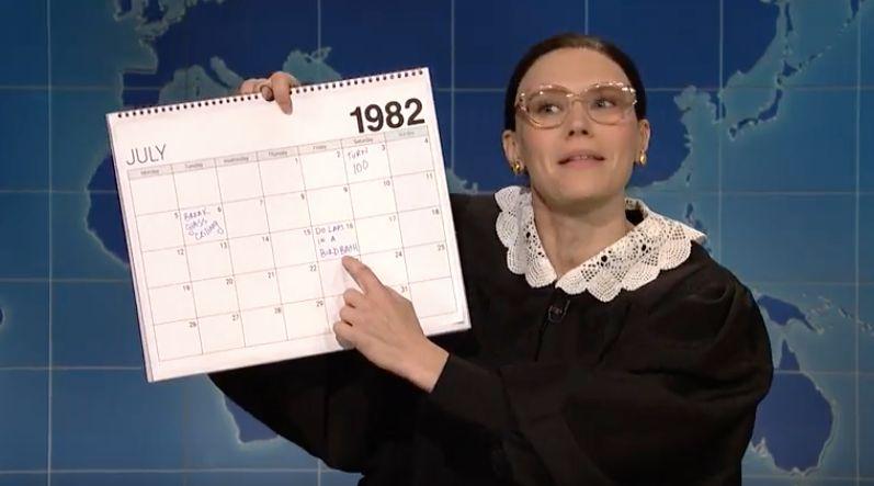 High On McKinnon's 'SNL' Calendar For Her Ruth Bader Ginsburg: Don't Die!