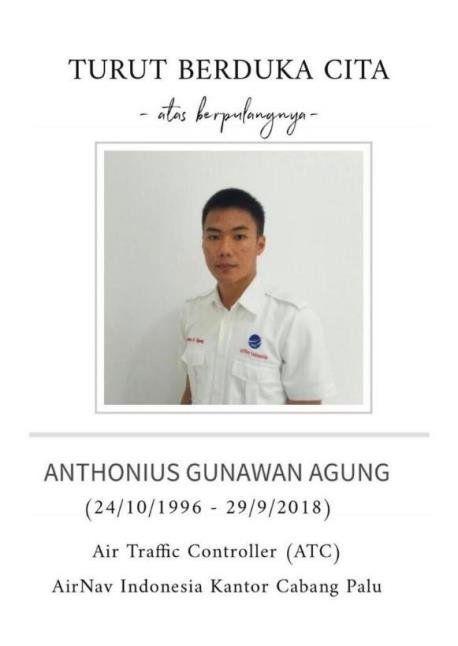강진 속에서 여객기 이륙을 돕다가 사망한 인도네시아 항공교통관제사