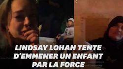 Lindsay Lohan tente d'emmener l'enfant d'une famille qui dort dans la rue et suscite