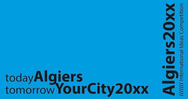 Affiche du concours international d'idées Algiers