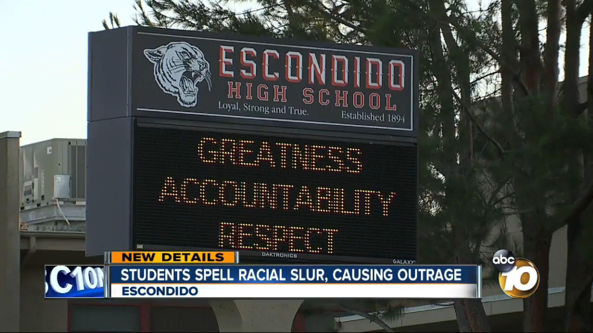 Students at Escondido High School in California are facing disciplinary action after spelling out racial and anti-gay words f