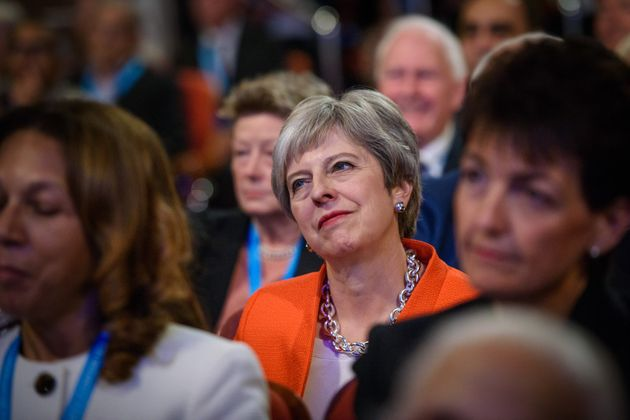 Prime Minster Theresa May pictured on the first day of the Conservative Party annual conference at the...