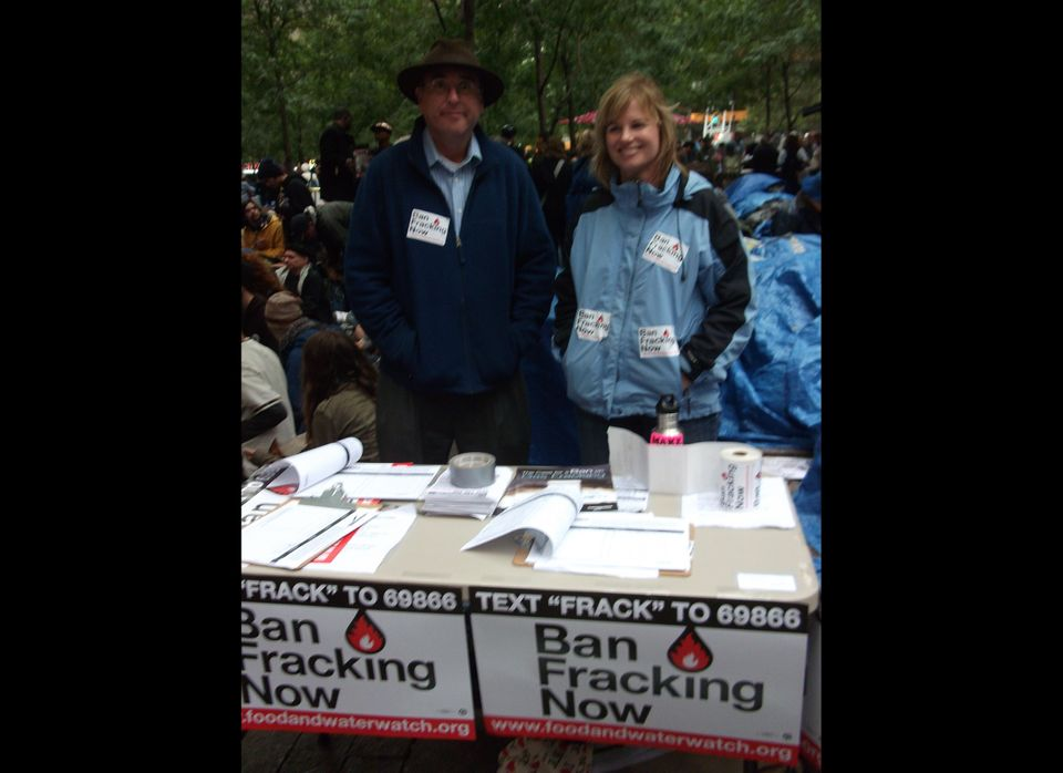 """""""We're here today mobilizing people against hydrofracking, which is an extraordinarily dangerous technique for drilling for n"""