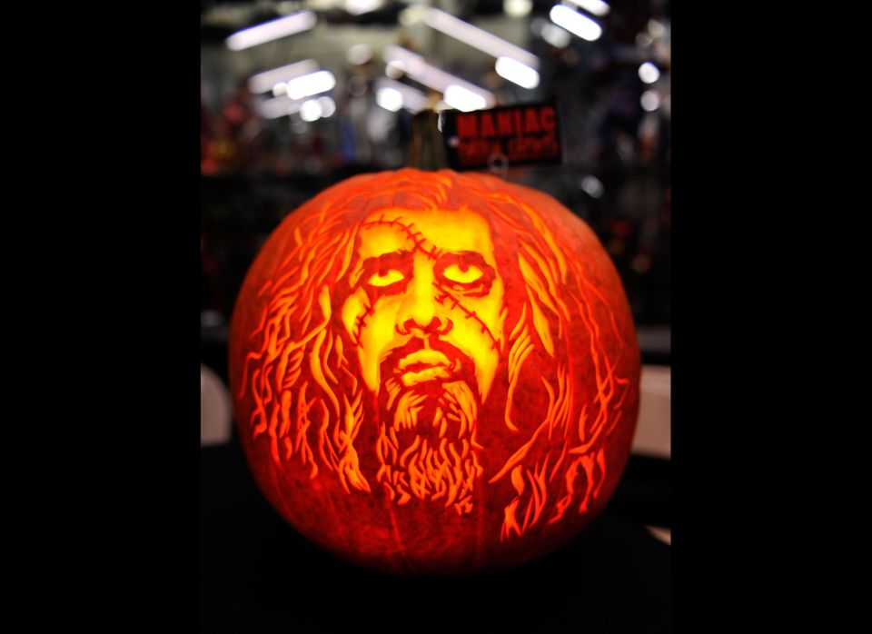 <em>From Getty:</em> NEW YORK - OCTOBER 11: A Rob Zombie jack-o-lantern promotes 'Royal Flush Book Seven' & 'Hellbilly Deluxe