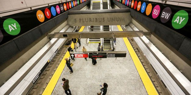 NEW YORK, NY - JANUARY 07: General view of the Second Avenue subway line after the opening of three new stations to the publi