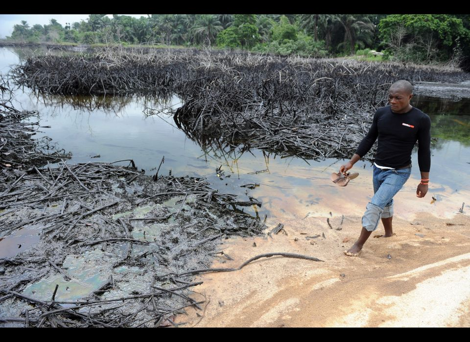 "In Nigeria's Akwa Ibom State, an ExxonMobil pipeline ruptured on May 1 and spilled over a million gallons of oil, <a href=""ht"