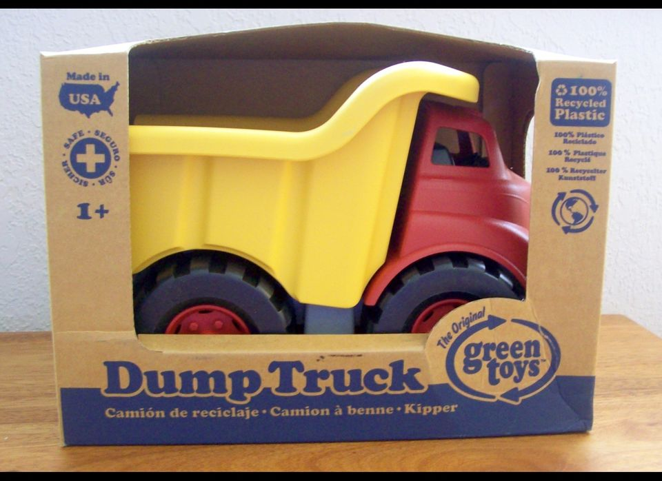 This company is amazing, and their little toy trucks, made entirely from recycled plastic and produced in the USA, are absolu