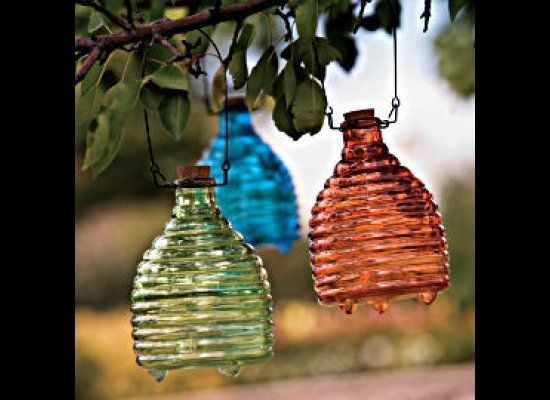 """Find it at <a href=""""http://www.gaiam.com/product/recycled+glass+wasp+catcher.do"""" target=""""_hplink"""">Gaiam</a> ($13; set of 3 -"""