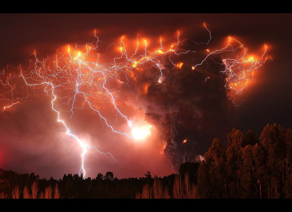 In this June 6, 2011 file photo, lightning strikes over the Puyehue volcano, over 500 miles south of Santiago, Chile. (AP Pho
