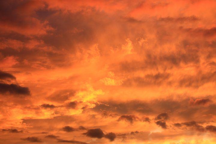 sky burning sunrise sunset...