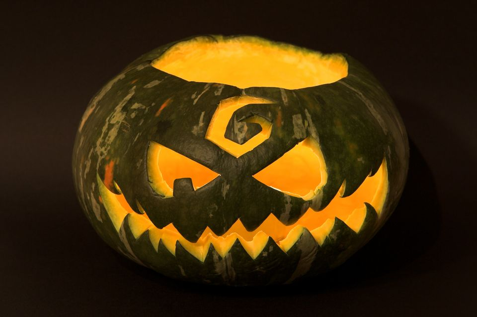 Thick skinned winter squashes such as Hubbard and Kabocha make for great alternatives to the traditional orange pumpkin. Mix