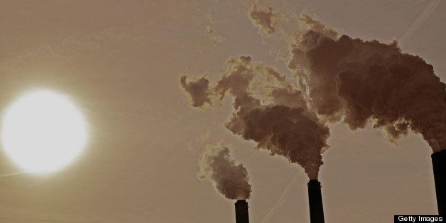 Carbon dioxide emissions from a power plant