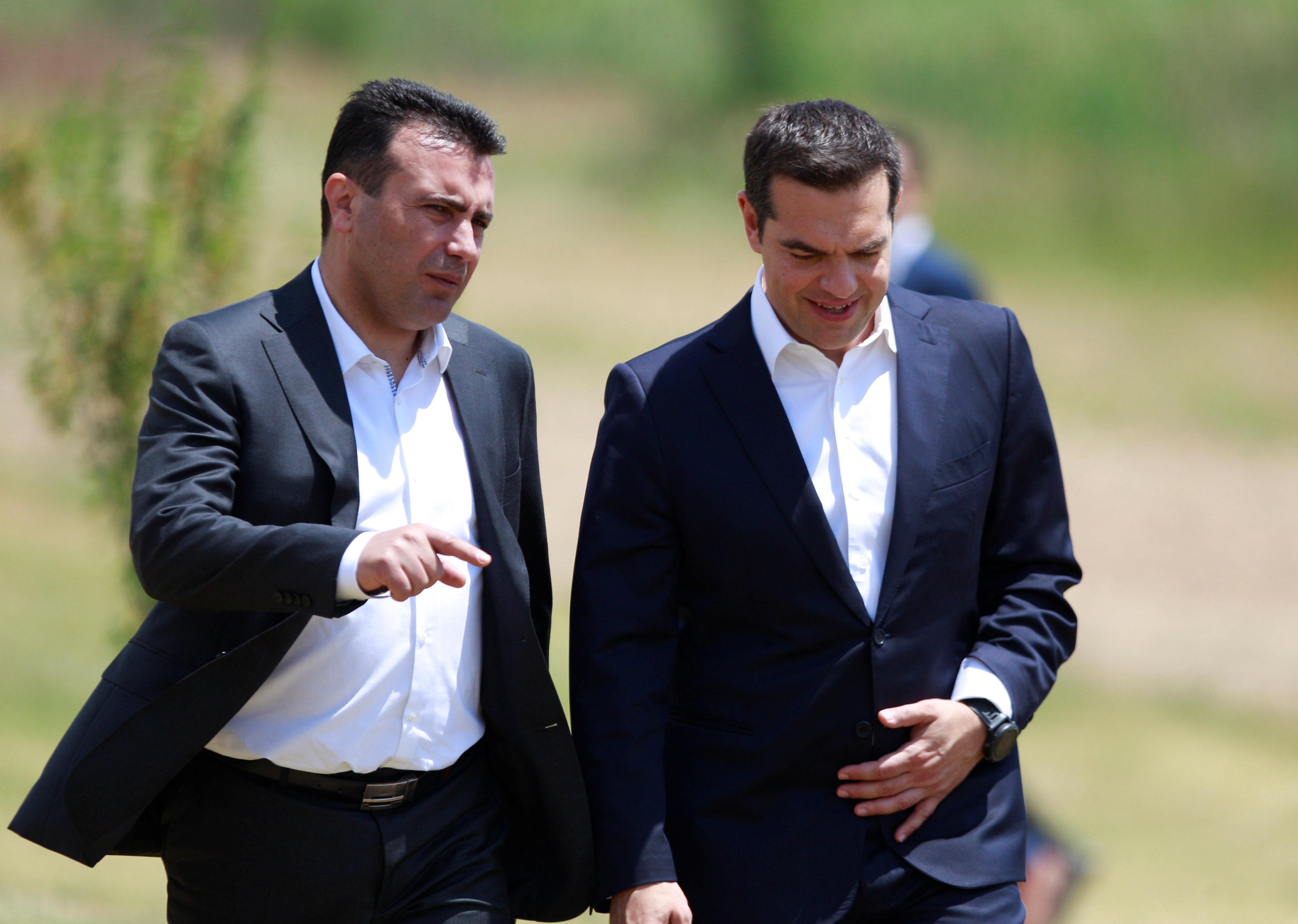 Τηλεφωνική επικοινωνία Τσίπρα με Ζάεφ και συγχαρητήρια από τον έλληνα