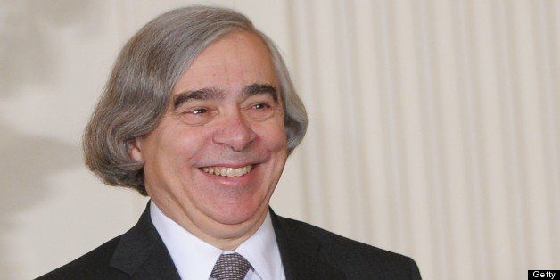 Massachusetts Institute of Technology (MIT) scientist Ernest Moniz smiles during his nomination by US President Barack Obama
