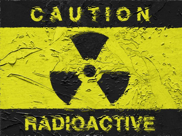 radioactive symbol background