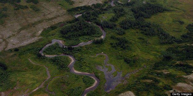 The Upper Talarik River's head waters are near the proposed Pebble Mine site in the Iliamna Lake area of the Alaska Peninsula
