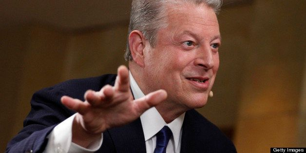 Former U.S. Vice President Al Gore speaks during an interview at the annual Milken Institute Global Conference in Beverly Hil