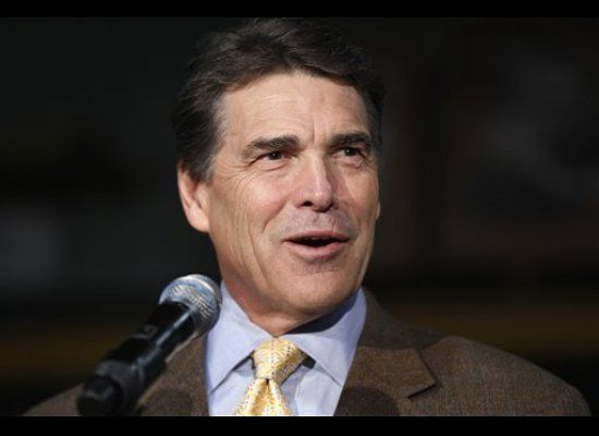 Texas Gov. Rick Perry, who's leading a lawsuit to block the EPA from limiting carbon emissions at power plants, wants new env