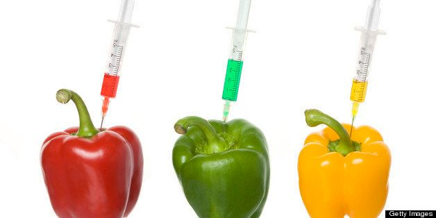 Syringes in bell peppers