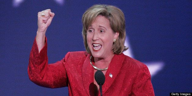 NEW YORK, NY - AUGUST 30:  Republican National Committee Co-Chairman Ann Wagner speaks at the beginning of the Republican Nat