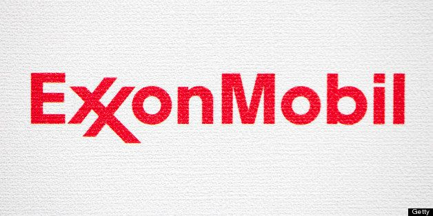 The logo of Exxon Mobil Corp. is displayed during the 21st World Energy Congress in Montreal, Quebec, Canada, on Wednesday, S