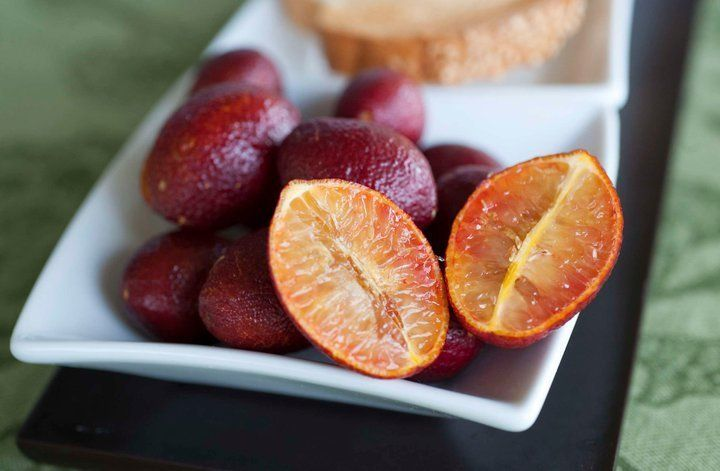 Blood limes are a cross between a red finger lime and an Ellendale Mandarin, which itself is an orange/mandarin hybrid. It's