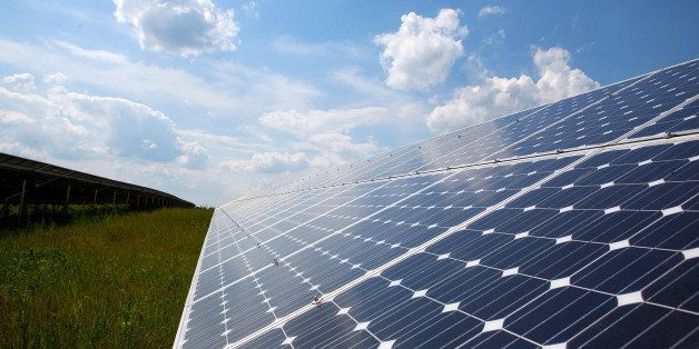 Solar panels produced by Solarworld AG are seen located in a field near to the company's plant in Freiberg, Germany, on Wedne
