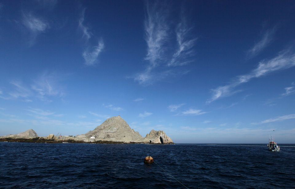 In this photo taken Thursday Oct. 13, 2011, shown is Southeast Farallon Island at the Farallones National Wildlife Refuge, Ca
