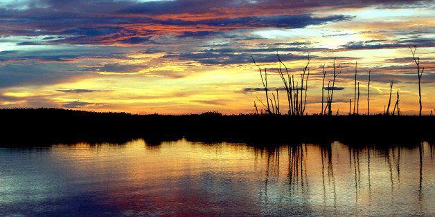 Lake okeechobee at florida.