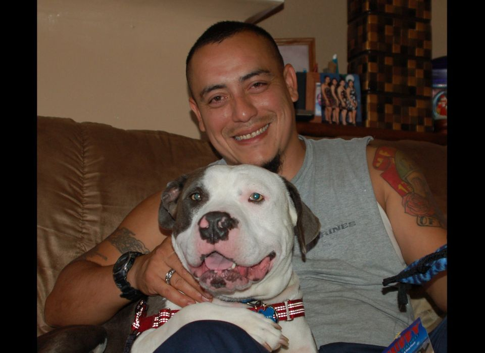 Carlos and Jazz smile for the camera.