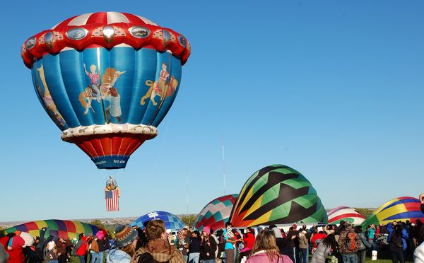 """Referred to by participants as the """"Enchanted Sunrise,"""" every October for the last 42 years, hundreds of ballooners hit the s"""