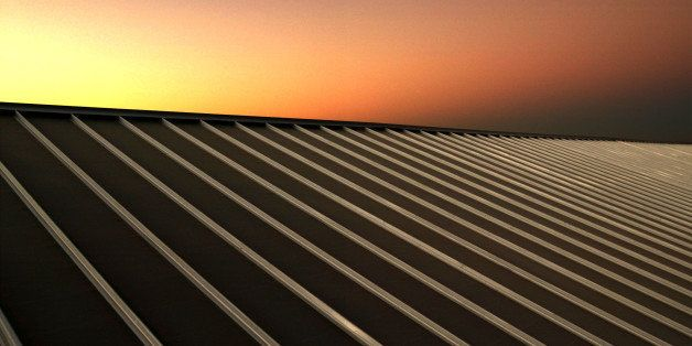 TAFT, CA - JULY 8:  Night settles over solar panals at Solarmine, the first solar photovoltaic facility in California to help