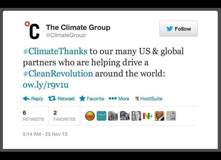 This week, Twitter users are giving #climatethanks to the programs, countries, organizations and other means that are making